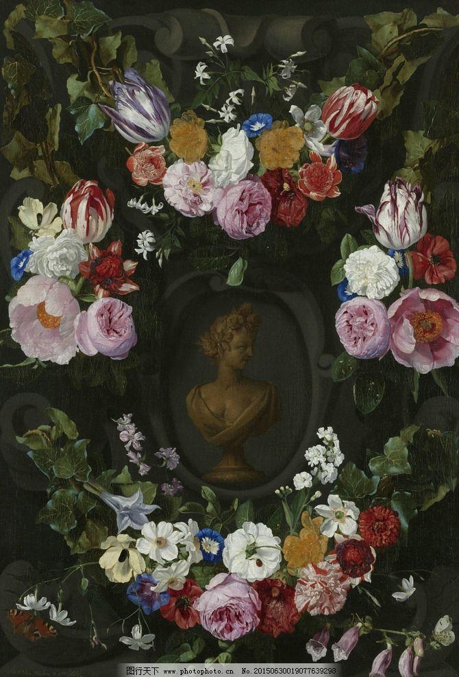 花卉 鲜花 装饰画 无框画 欧式油画 唯美 油画艺术 古典油画 写实