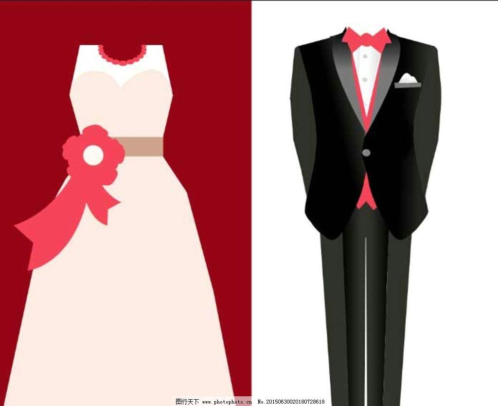卡通婚纱礼服图片