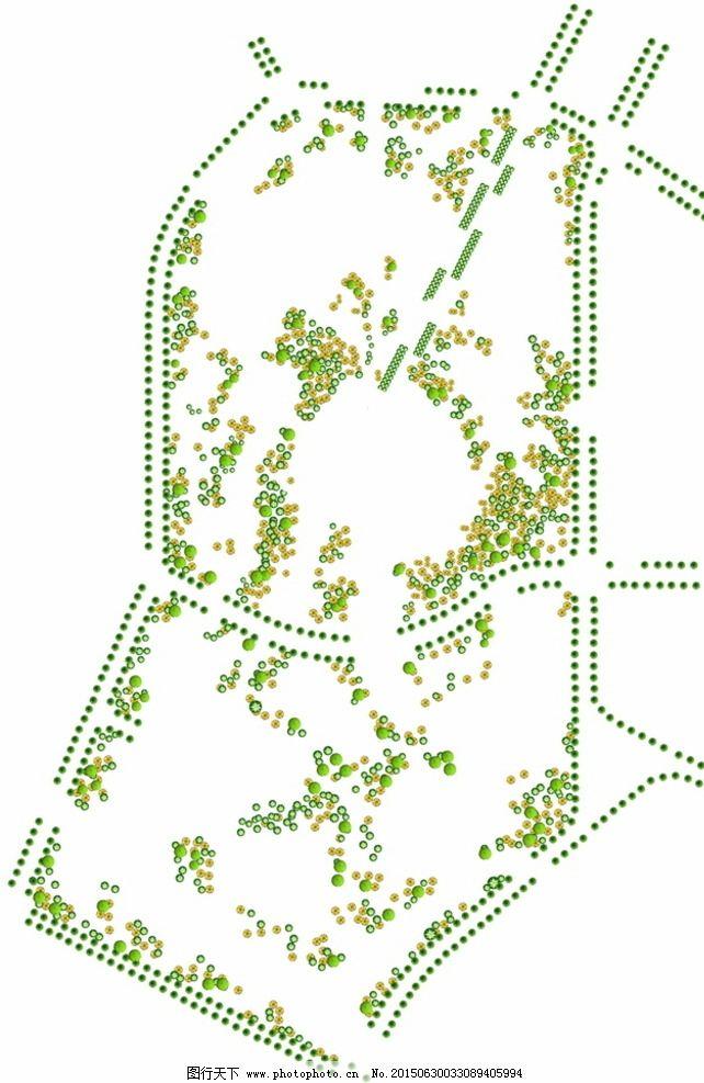 景观平面树素材图片