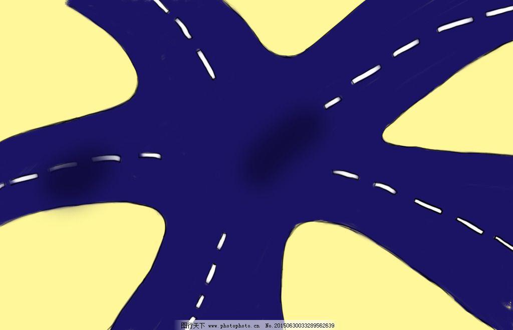 手绘 路口 手绘免费下载 手绘板 广告设计