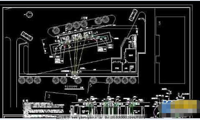 加油站油路布置设计cad总平面图纸