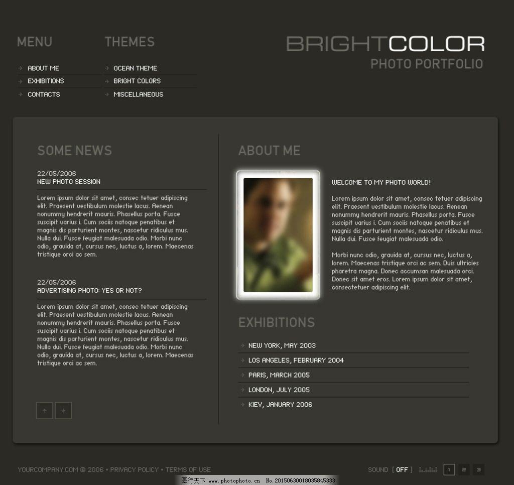 国外简洁网页内页设计模板图片