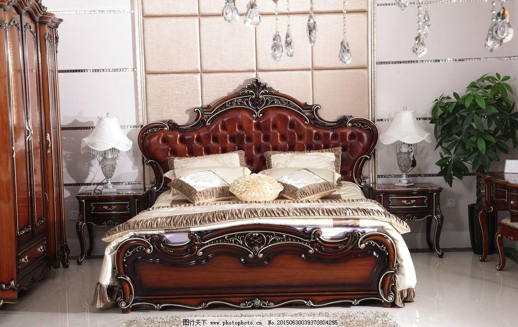 欧式大床图片_室内摄影