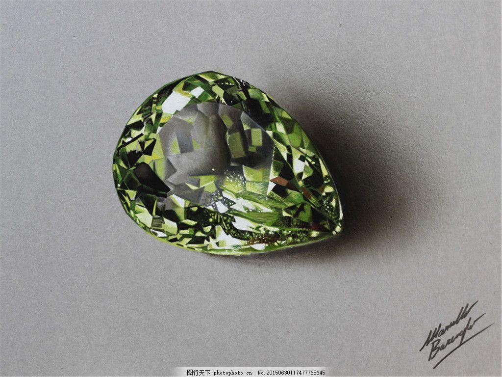 手绘彩色美丽创意珠宝图片素材