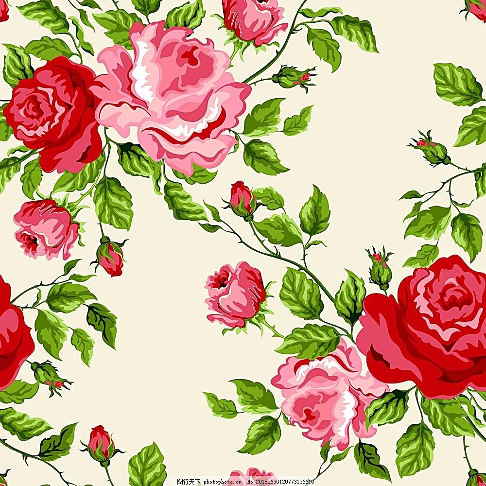 手绘鲜花背景素材