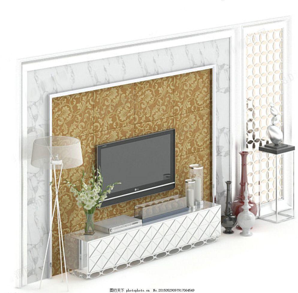 电视背景墙,电视max,背景墙max,室内模型,电视柜,电视柜max,室内设计模型
