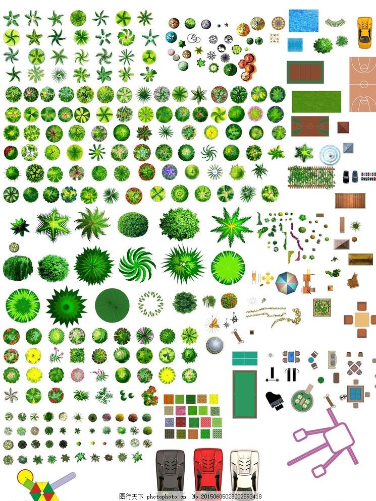 小区景观设计平面高清_平面彩图树种大全图片_建筑设计_环境设计-图行天下素材网